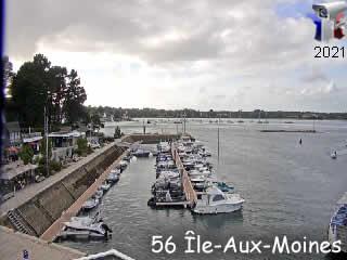 Le port de l'Ile-Aux-Moines - via france-webcams.com