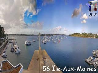 Webcam l'Ile-Aux-Moines en panoramique HD - via france-webcams.com