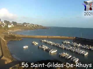 Webcam Saint-Gildas-De-Rhuys la vue sur le port aux moines - via france-webcams.com