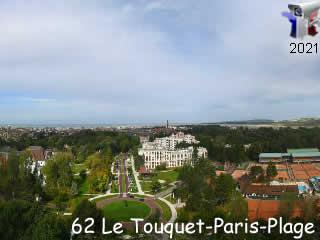 Webcam Le Touquet - Les jardins du Palais des Congrès - via france-webcams.com