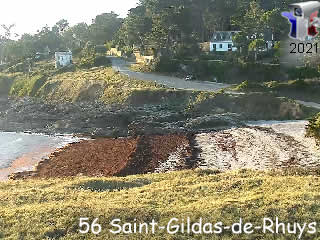 Webcam Saint-Gildas-De-Rhuys - La plage de port Maria - via france-webcams.com
