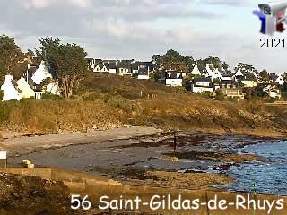 Webcam Saint-Gildas-de-Rhuys - La plage de Kerfago - via france-webcams.com