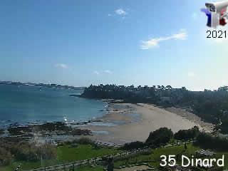 Webcam sur la plage de Dinard - via france-webcams.com