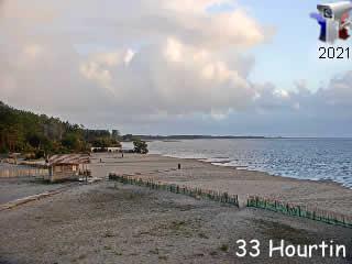 La plage du lac d'Hourtin - Médoc Atlantique - via france-webcams.com