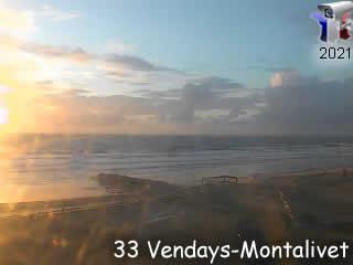 Webcam Vendays-Montalivet - la plage - via france-webcams.com