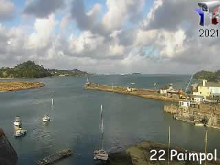 Webcam Paimpol - entrée du port - via france-webcams.com
