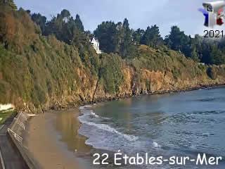 Webcam Etables-sur-Mer - Plage des Godelins - via france-webcams.com