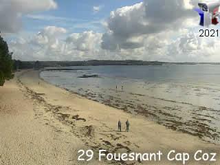 Webcam de Fouesnant - plage du Cap Coz - via france-webcams.com
