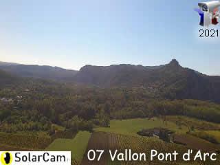 Webcam du Rocher de Sampzon - Vallon Tourisme - via france-webcams.com