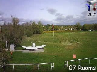 Webcam de l'aérodrome de Ruoms - Vallon Tourisme - via france-webcams.com