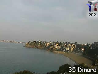 Dinard - la plage 2 - via france-webcams.com