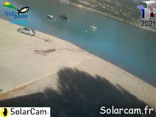 Pêche mise à l'eau Serre-ponçon - SolarCam: caméra solaire 3G. - via france-webcams.com